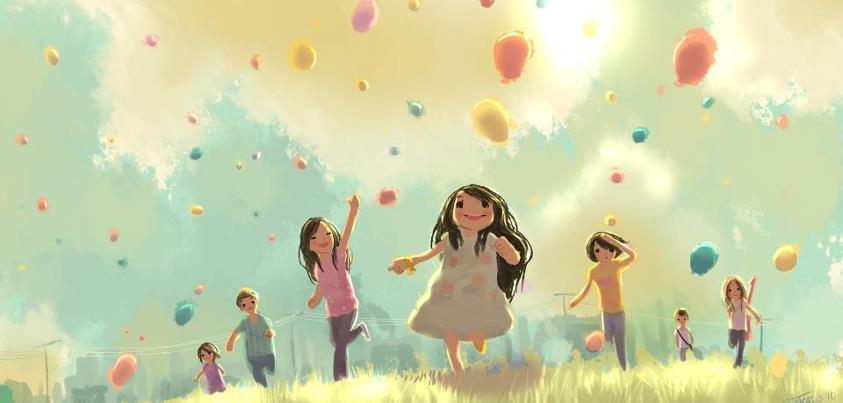 La joie de l'enfant libre